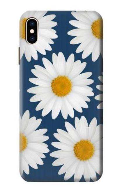 S3009 Daisy Blue Etui Coque Housse pour iPhone XS Max