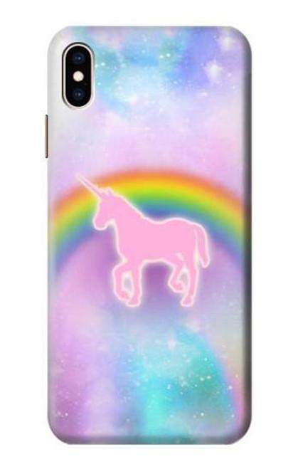 S3070 Rainbow Unicorn Pastel Sky Etui Coque Housse pour iPhone XS Max