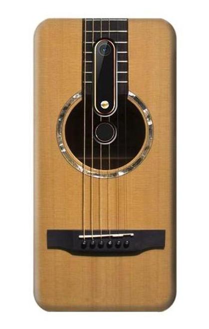 S0057 Acoustic Guitar Etui Coque Housse pour Nokia 6.1, Nokia 6 2018