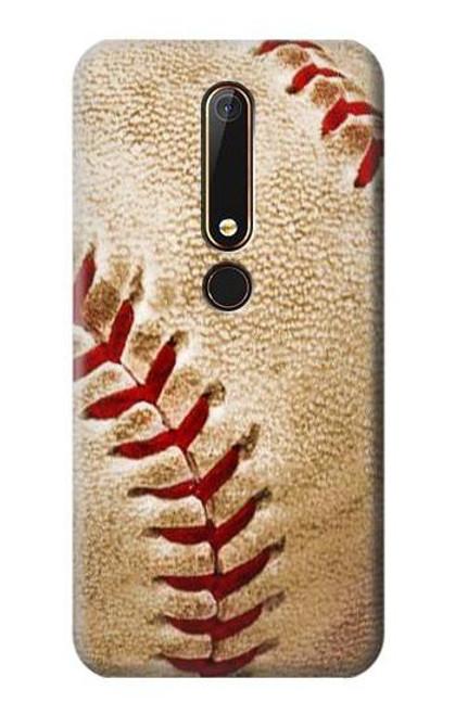 S0064 Baseball Etui Coque Housse pour Nokia 6.1, Nokia 6 2018