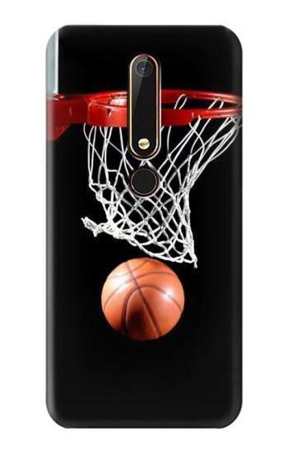 S0066 Basketball Etui Coque Housse pour Nokia 6.1, Nokia 6 2018