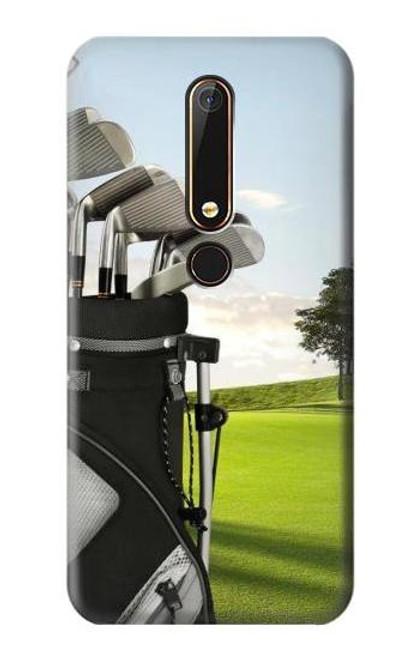 S0067 Golf Etui Coque Housse pour Nokia 6.1, Nokia 6 2018