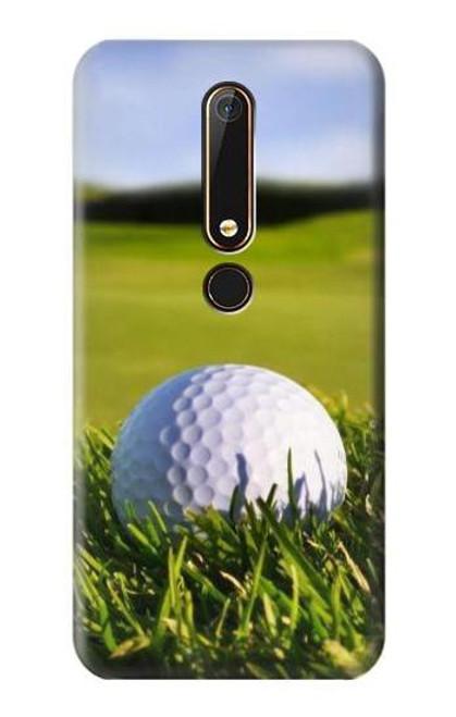 S0068 Golf Etui Coque Housse pour Nokia 6.1, Nokia 6 2018