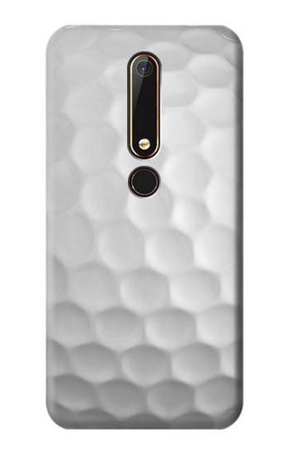 S0071 Golf Ball Etui Coque Housse pour Nokia 6.1, Nokia 6 2018