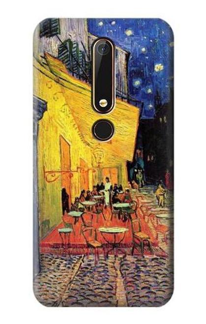 S0929 Van Gogh Cafe Terrace Etui Coque Housse pour Nokia 6.1, Nokia 6 2018