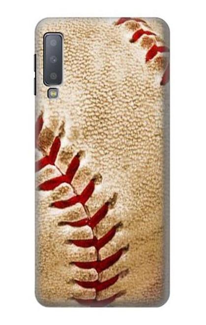 S0064 Baseball Etui Coque Housse pour Samsung Galaxy A7 (2018)