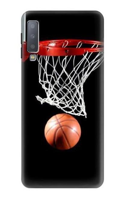 S0066 Basketball Etui Coque Housse pour Samsung Galaxy A7 (2018)