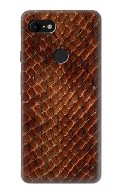 S0555 Snake Skin Etui Coque Housse pour Google Pixel 3 XL