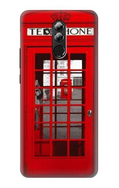 S0058 British Red Telephone Box Etui Coque Housse pour Huawei Mate 20 lite