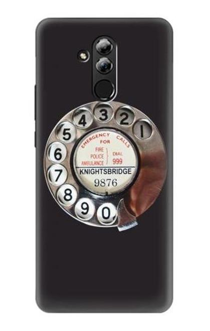 S0059 Retro Rotary Phone Dial On Etui Coque Housse pour Huawei Mate 20 lite