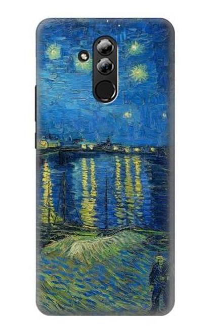 S3336 Van Gogh Starry Night Over the Rhone Etui Coque Housse pour Huawei Mate 20 lite