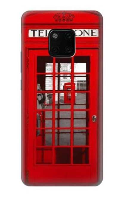S0058 British Red Telephone Box Etui Coque Housse pour Huawei Mate 20 Pro