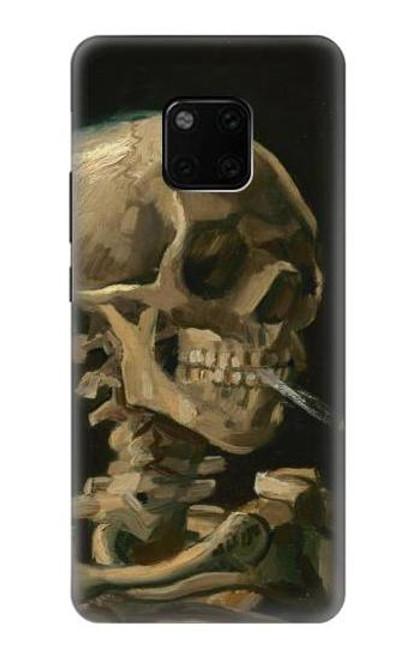 S3358 Vincent Van Gogh Skeleton Cigarette Etui Coque Housse pour Huawei Mate 20 Pro