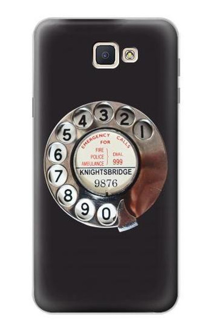 S0059 Retro Rotary Phone Dial On Etui Coque Housse pour Samsung Galaxy J7 Prime