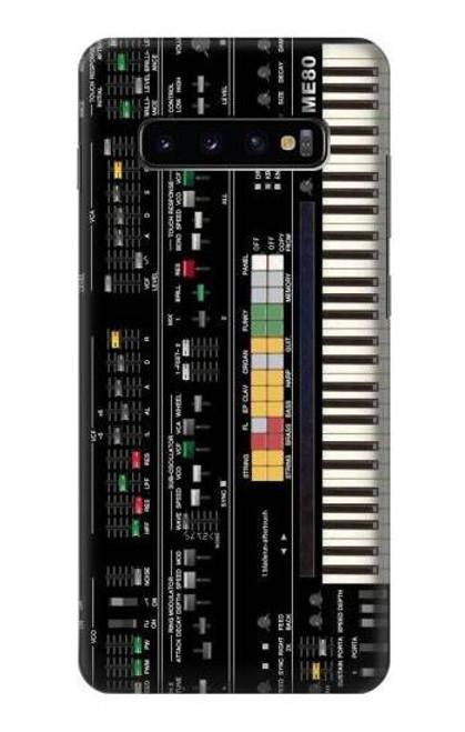 S0061 Synthesizer Etui Coque Housse pour Samsung Galaxy S10 Plus