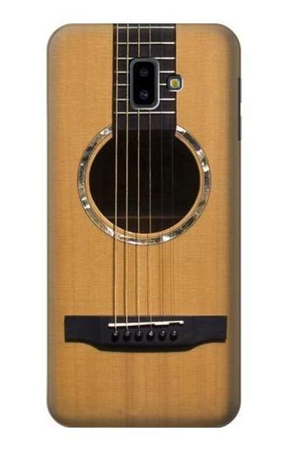 S0057 Acoustic Guitar Etui Coque Housse pour Samsung Galaxy J6+ (2018), J6 Plus (2018)