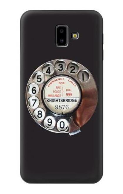 S0059 Retro Rotary Phone Dial On Etui Coque Housse pour Samsung Galaxy J6+ (2018), J6 Plus (2018)