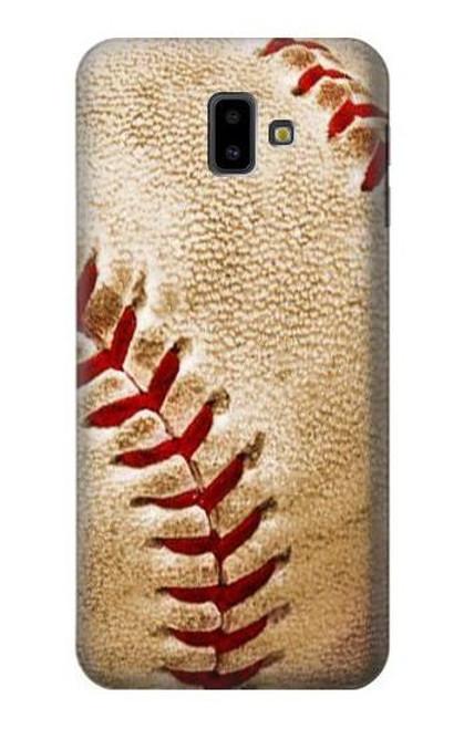 S0064 Baseball Etui Coque Housse pour Samsung Galaxy J6+ (2018), J6 Plus (2018)