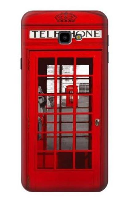 S0058 British Red Telephone Box Etui Coque Housse pour Samsung Galaxy J4+ (2018), J4 Plus (2018)