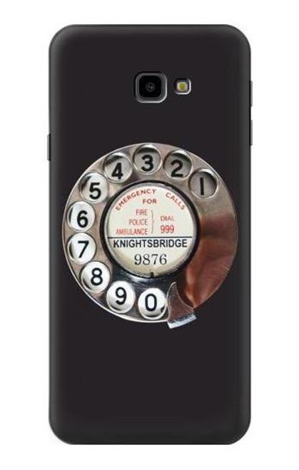 S0059 Retro Rotary Phone Dial On Etui Coque Housse pour Samsung Galaxy J4+ (2018), J4 Plus (2018)