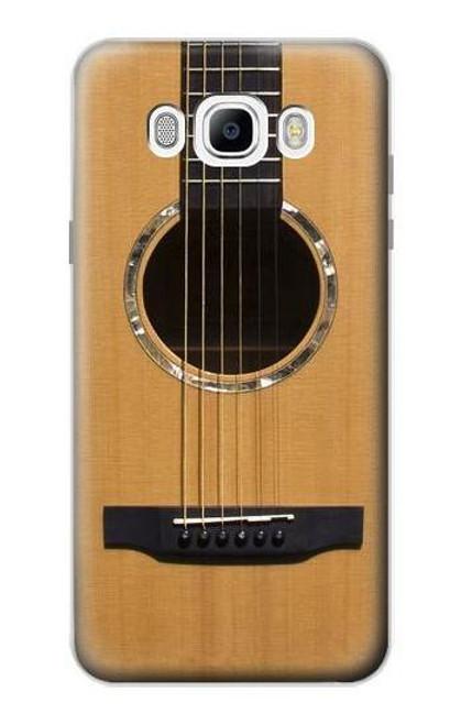 S0057 Acoustic Guitar Etui Coque Housse pour Samsung Galaxy J7 (2016)