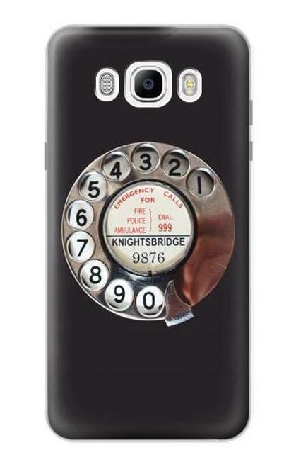 S0059 Retro Rotary Phone Dial On Etui Coque Housse pour Samsung Galaxy J7 (2016)
