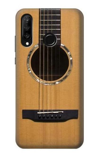 S0057 Acoustic Guitar Etui Coque Housse pour Huawei P30 lite