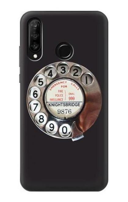 S0059 Retro Rotary Phone Dial On Etui Coque Housse pour Huawei P30 lite