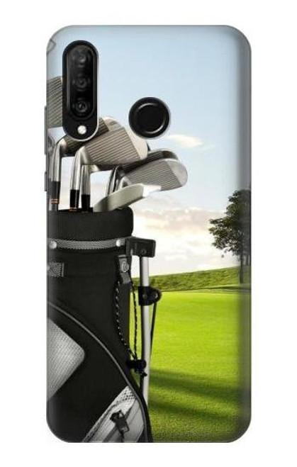 S0067 Golf Etui Coque Housse pour Huawei P30 lite