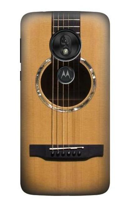 S0057 Acoustic Guitar Etui Coque Housse pour Motorola Moto G7 Power