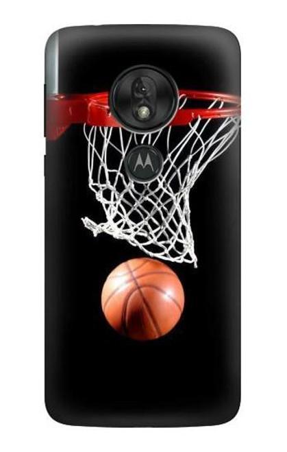 S0066 Basketball Etui Coque Housse pour Motorola Moto G7 Power
