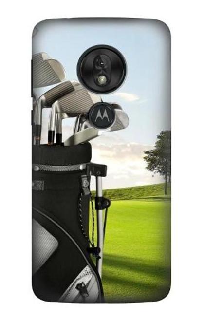 S0067 Golf Etui Coque Housse pour Motorola Moto G7 Power