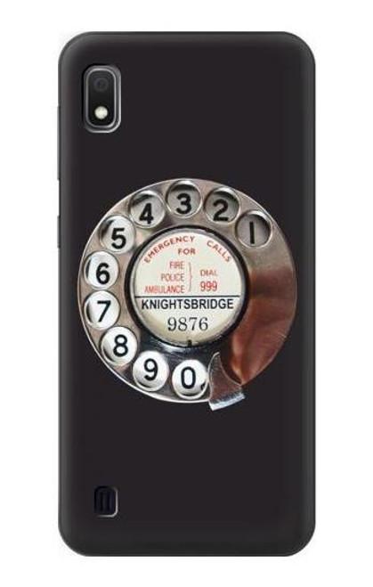 S0059 Retro Rotary Phone Dial On Etui Coque Housse pour Samsung Galaxy A10