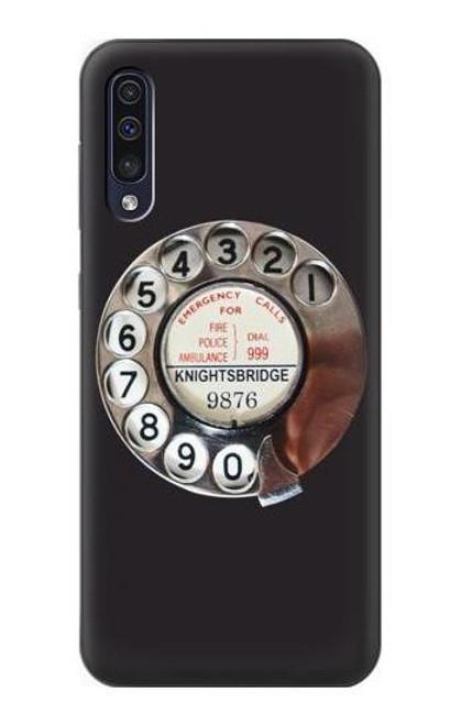 S0059 Retro Rotary Phone Dial On Etui Coque Housse pour Samsung Galaxy A50
