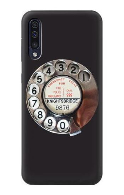 S0059 Retro Rotary Phone Dial On Etui Coque Housse pour Samsung Galaxy A70