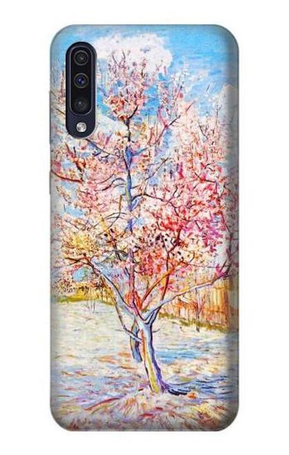 S2450 Van Gogh Peach Tree Blossom Etui Coque Housse pour Samsung Galaxy A70