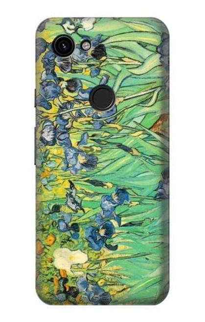 S0210 Van Gogh Irises Etui Coque Housse pour Google Pixel 3a