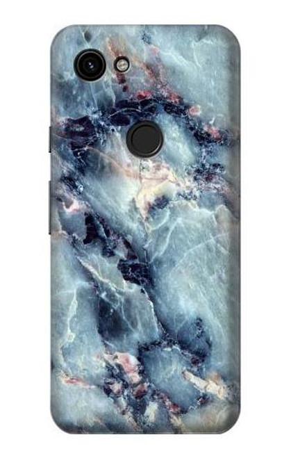 S2689 Bleu Marbre Texture Imprimé graphique Etui Coque Housse pour Google Pixel 3a