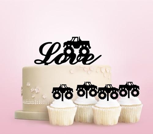 TC0263 Bigfoot Monster Truck Cake Cupcake Toppers Acrylique De Mariage Joyeux pour Gâteau Partie Décoration 11 Pièces