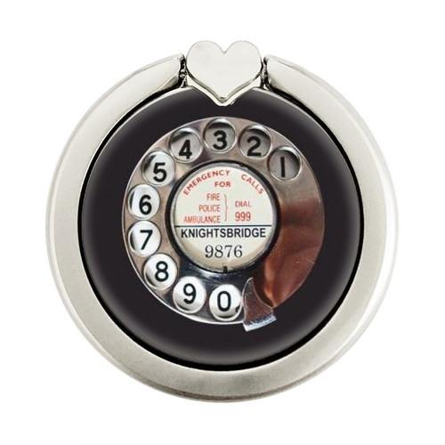S0059 Retro Rotary Phone Dial On Graphique Porte-Bague et Pop Up Grip doigt Socket Support