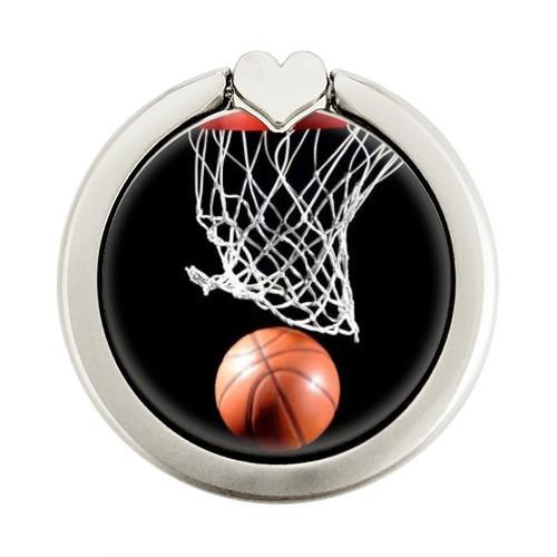 S0066 Basketball Graphique Porte-Bague et Pop Up Grip doigt Socket Support