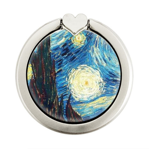 S0582 Van Gogh Starry Nights Graphique Porte-Bague et Pop Up Grip doigt Socket Support