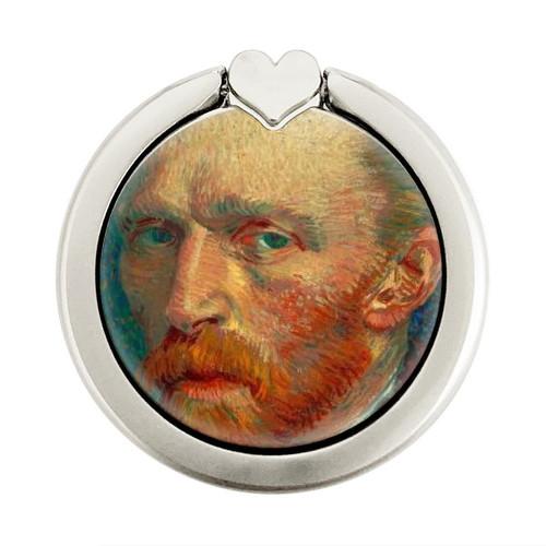 S3335 Vincent Van Gogh Self Portrait Graphique Porte-Bague et Pop Up Grip doigt Socket Support