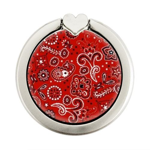 S3354 Red Classic Bandana Graphique Porte-Bague et Pop Up Grip doigt Socket Support