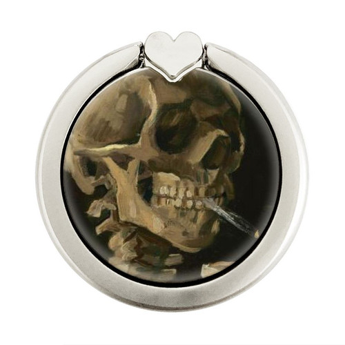 S3358 Vincent Van Gogh Skeleton Cigarette Graphique Porte-Bague et Pop Up Grip doigt Socket Support