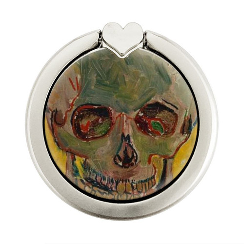 S3359 Vincent Van Gogh Skull Graphique Porte-Bague et Pop Up Grip doigt Socket Support