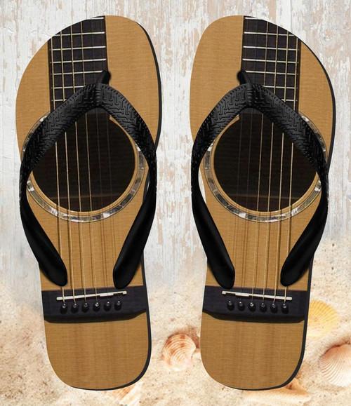 FA0001 Acoustic Guitar Tongs Sandales Slipper été Plage Flip Flops Unisex