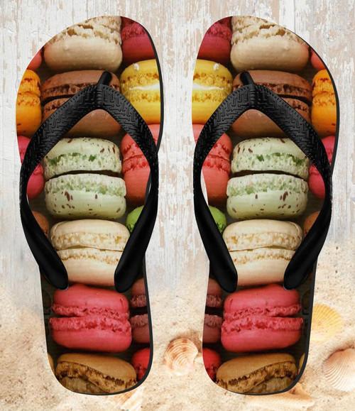 FA0010 Macarons Tongs Sandales Slipper été Plage Flip Flops Unisex