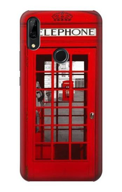 S0058 British Red Telephone Box Etui Coque Housse pour Huawei P Smart Z, Y9 Prime 2019