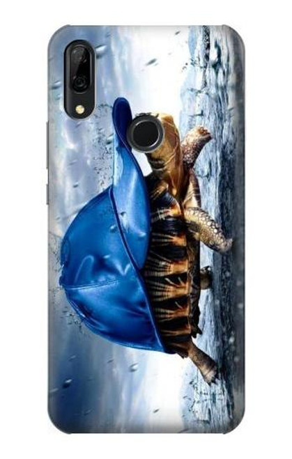 S0084 Turtle in the Rain Etui Coque Housse pour Huawei P Smart Z, Y9 Prime 2019